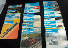 Lot of 22 Model Railroader Magazine Issues from 1970 1971 1972 Vintage Condition