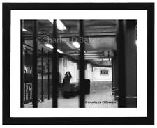 Phone Call  Black and White Photo Signed and Framed