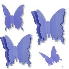 purple 12pcs DIY 3D Butterfly Wall Stickers Home Decor Room Decorations
