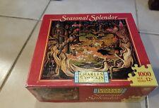 "Charles Wysocki ""Fork in the Road"" Seasonal Splendor 1000-Piece Puzzle Free Ship"