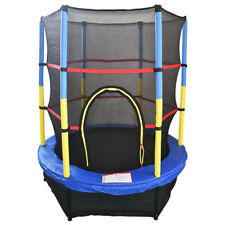 """4.5FT 55"""" Trampoline With Enclosure Safety Net Skirt Junior Kid Outdoor Activity"""