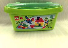 NICE! 2007 LEGO Duplo Empty Green Plastic Storage Case Bin Container Bucket Box
