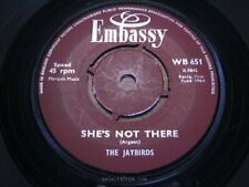 JAYBIRDS / PAUL RICH ~ She's Not There ~ NR MINT ~ 1964 UK EMBASSY WB 651 ~ Beat