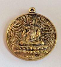 Statuette figurine laiton amulette PENDENTIF BOUDDHA BUDDHA Thaïlande Asie b73