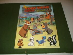 1960 YOGI BEAR & BOO BOO PLAYBOOK ***UNUSED***, HUCKLEBERRY HOUND,MR. JINKS,RARE