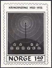 Norway Sc664 50 Years of Broadcasting, Radio Tower, Proof, Essay