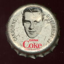 1964 65 COCA-COLA COKE BOTTLE CAP With CORK  GILLES TREMBLAY MONTREAL CANADIENS