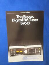 Revox B760 Tuner Sales Brochure Factory Original The Real Thing