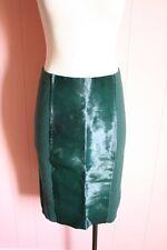 JCrew Pony Pencil Skirt S Small Collection Calf Hair Merino Wool Dark Green $430