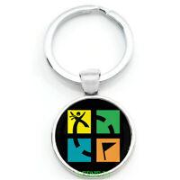 Schlüsselanhänger Geocaching Groundspeak Geschenk Retro Logo FTF SWAG