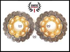 Front Brake Disc Rotors Set for Kawasaki ZX6RR ZX6R 636 Wave Rotors 03-04