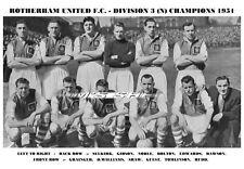 ROTHERHAM UNITED F.C.TEAM PRINT 1951 - DIVISION 3 (NORTH) WINNERS