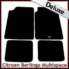 Citroen Berlingo Multispace 1996-2007 1-Clip Tailored LUX 1300g Car Mats BLACK