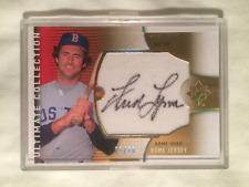 2008 FRED LYNN UPPER DECK AUTOGRAPH HOME JERSEY #UL-FL LIMITED AND #01/10 HOF