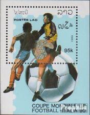 Laos Bloc 126 (complète edition) neuf avec gomme originale 1989 Football-WM 1990