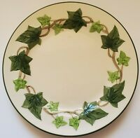 "Franciscan Green Ivy Luncheon Plate 9 1/2"" Hand Painted Made in California"