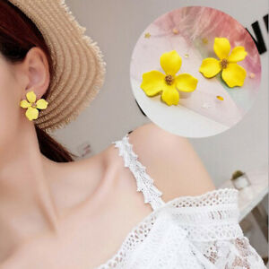 Women Flower Jewelry Ear Stud Fashion Ethnic Metal Floral Earrings Accessories