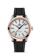 Omega Seamaster Aqua Terra Men's Wristwatch with Black Strap