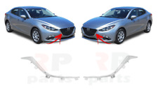 FOR MAZDA 3 2014 - 2016 NEW FRONT BUMPER CENTER GRILLE CHROME PAIR SET