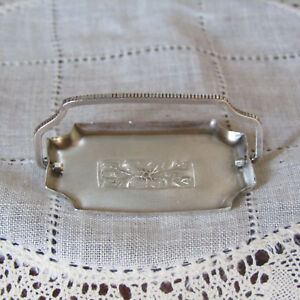 Dollhouse Miniature SILVER TEA TRAY Vintage Serving Dish Artist Artisan Handmade