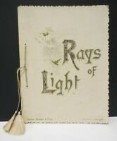 Antique London Meissner Buch Rays of Light Germany Booklet Inspirational Poem