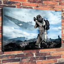 """Imperial Stormtrooper Printed Box Canvas Picture A1.30""""x20"""" -Deep 30mm Star Wars"""