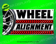 3x5 WHEEL ALIGNMENT banner sign display new used tires rotate balance auto shop