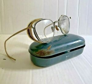 Vintage Bausch & Lomb Safety Glasses Metal Motorcycle Steampunk