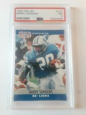 1990 Pro Set Barry Sanders Card #102 PSA 7 NM Detroit Lions
