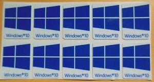 25 PCS Window 10  Blue Sticker Badge Logo Decal   USA