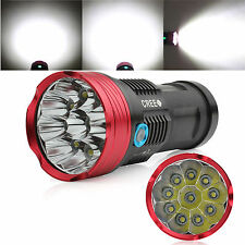 SKYRAY 10000LM 10 x CREE XM-L R8 LED Flashlight  4 x 18650 Torch Hunting Lamp