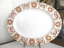 "Royal Crown Derby DERBY PANEL RED Oval Serving Platter 15"" - NICE!"
