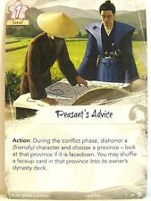 Legend of the Five Rings LCG - 1x #028 Peasant's Advice - Underhand of the Emper