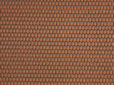 NOCH 57328 échelle H0, Tuile plate, rouge, 30x12cm 1qm=