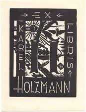 JARO BERAN: Exlibris für Karel Holzmann, 1932, Lokomotive