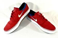 Nike Size 10 Mens SB Stefan Janoski Leather RED Skateboarding Shoes 616490-614