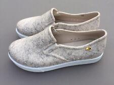 Melissa Mel Chaussures Femmes pompe 4 37 beige blanc crème slip on Blogger Plat Ete