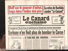 CANARD ENCHAINÉ Birthday Newspaper JOURNAL NAISSANCE 31 OCTOBRE OCTOBER 2007