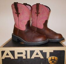 NEW ARIAT Fatbaby II Brown Rose Pink WESTERN Cowboy BOOTS WOMENS 7 or 7.5 NIB