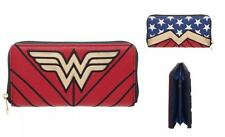DC Comics WONDER WOMAN Film Licensed WONDER WOMAN Logo Zip Around WALLET