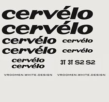 Cervelo S2 Bicycle Decals, Transfers, Stickers: Black n.4