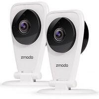 Zmodo 2-Pack EZCam 720p HD IP WiFi Wireless Surveillance Camera w/Two Way Audio