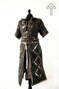 Mittelalter Kostüm Gambeson Reenactment Römische Schwarze Farbe Gut Look