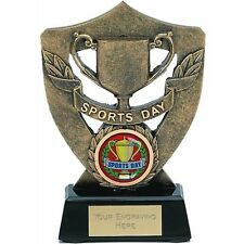 A358c   RESIN SPORTS DAY TROPHIES SIZE 12. CM 5 INCH FREE ENGRAVING