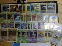 Pokemon Card Vintage 1997 Japanese 39 Holo Rare Card Lot Base Fossil Jungle Neo
