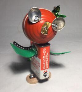 Disney ORANGE BIRD Assemblage Art Robot Sculpture Vintage Tin Florida WDW