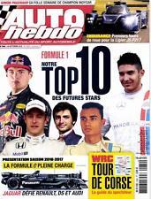 AUTO HEBDO n°2082 NEUF du 27/09/2016 : F1 10 futures stars - WRC Corse - Ligier