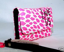 Victoria's Secret Love VS Wallet Clutch Case for Iphone 4 Pink White Purse