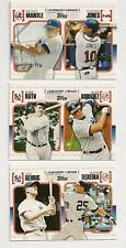 2010 Topps Legendary Lineage set of 75