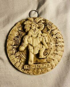 ChichenItza Maya Indian Carrying Women Native Calendar Decor Indigenous Aztec
